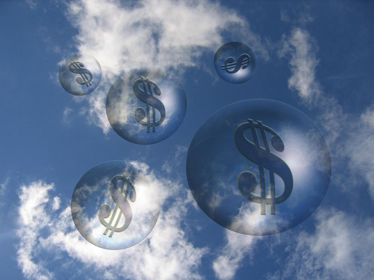 clouds money dollar signs
