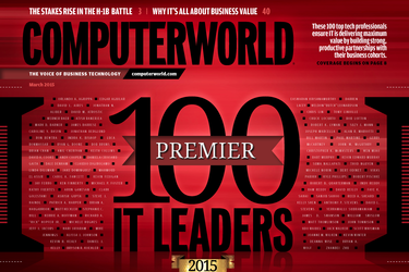 Computerworld Digital Edition, March 2015, Premier 100 cover