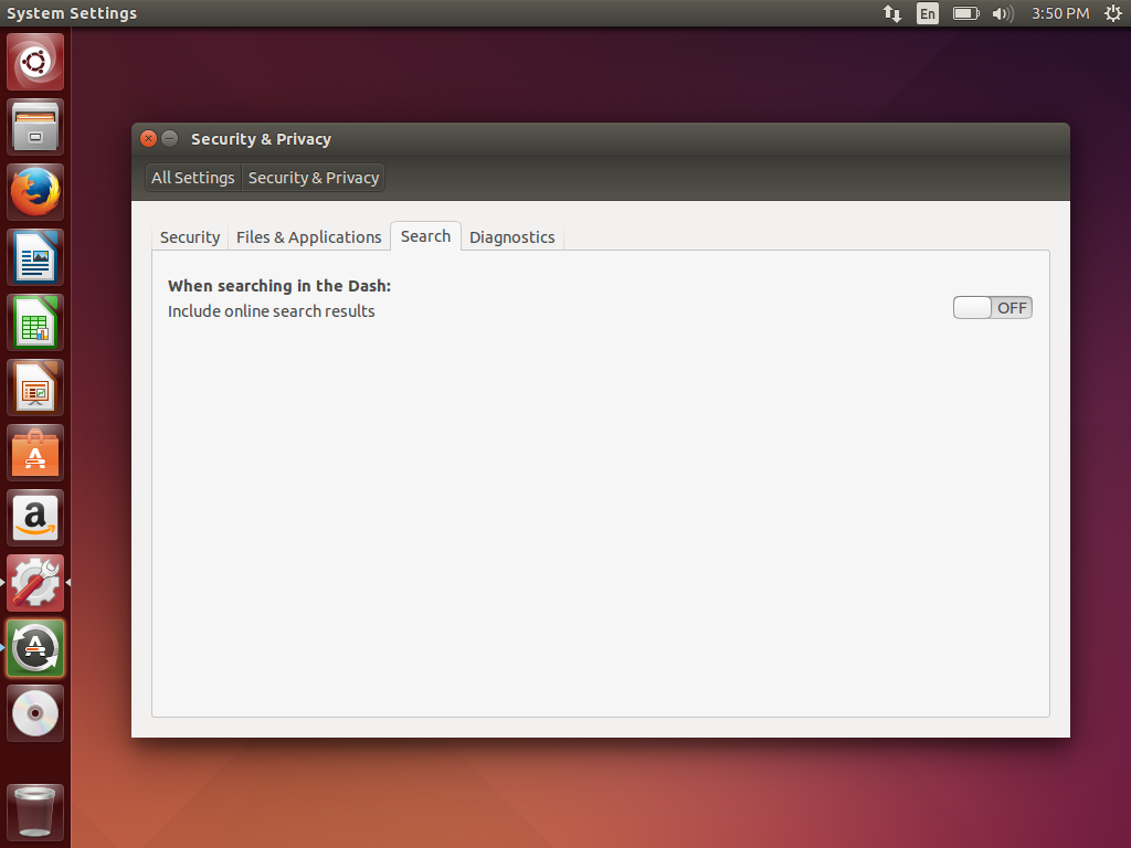 How to stop Ubuntu from sending your desktop searches to