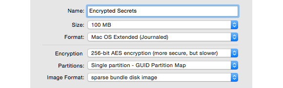 encryption sparse bundle options 580