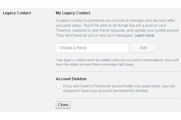 Facebook introduces Legacy Contacts to manage your account when you