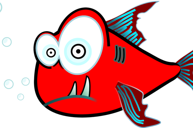 fish surprise shock cartoon