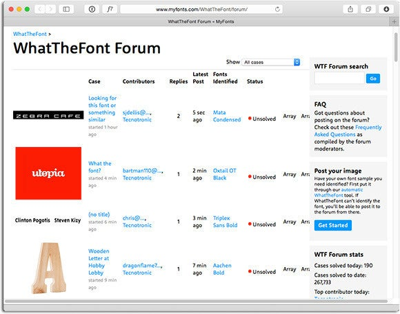 WhatTheFont Forum