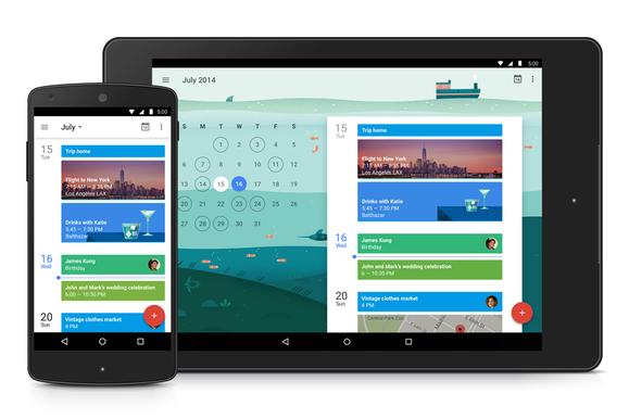 google calendar material design