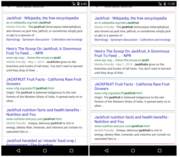 Google tinkering with more colorful, card-based mobile search