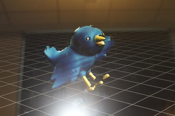 hp sprout 3d capture bird image