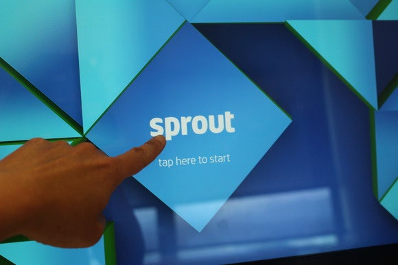 hp sprout tap to start