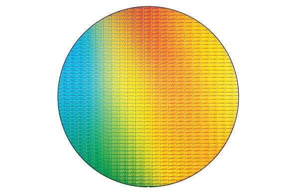 intel broadwell 14nm wafer