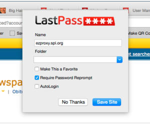 lastpass save site popup