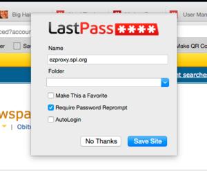 lastpass save site popup