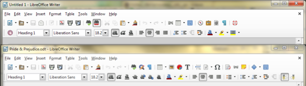 LibreOffice 4.4 toolbar