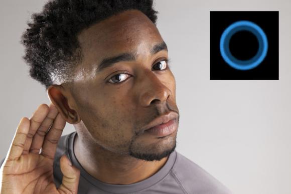 listening person cortana