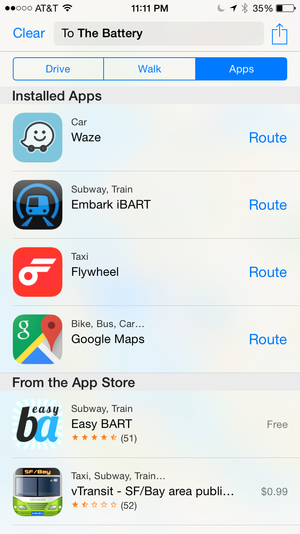 maps ios8 apps