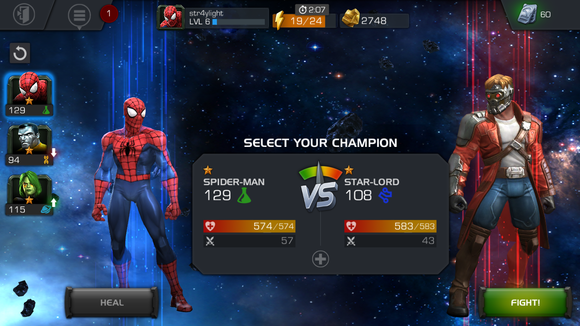 marvel showdown