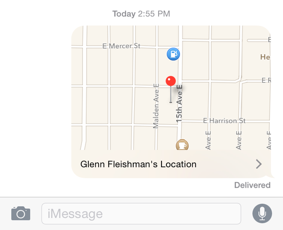 messages current map slice