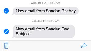 messages fwd button