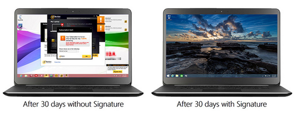 microsoft signature edition pcs bloatware example