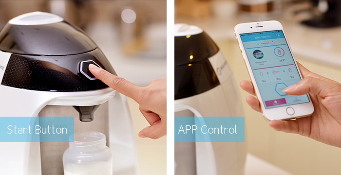 Milk Nanny an automatic formula maker you control with a smartphone