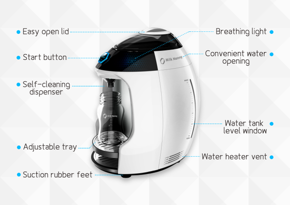 Milk Nanny An Automatic Formula Maker You Control With A