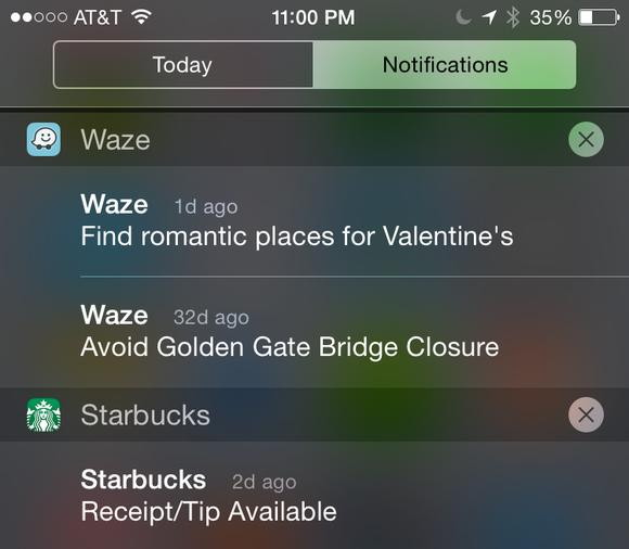 notifications center
