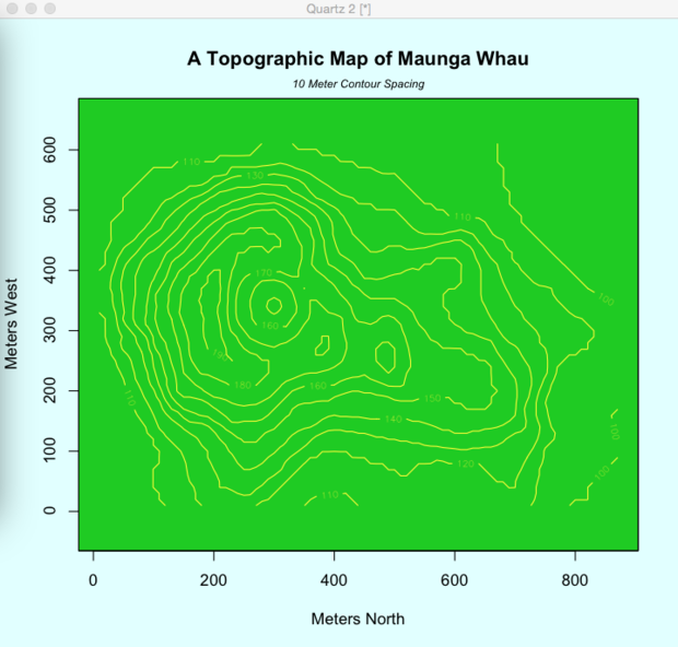 R topographic map