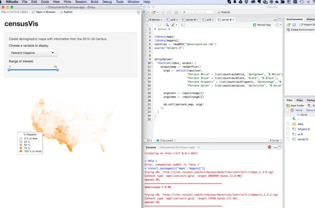 RStudio Shiny lesson