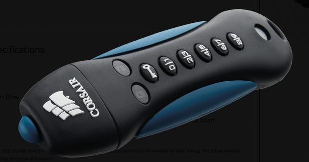 Corsair Padlock USB thumbdruve