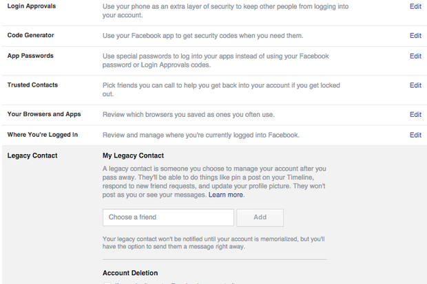 How to use Facebook Legacy Contact