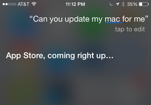 siri cant update mac