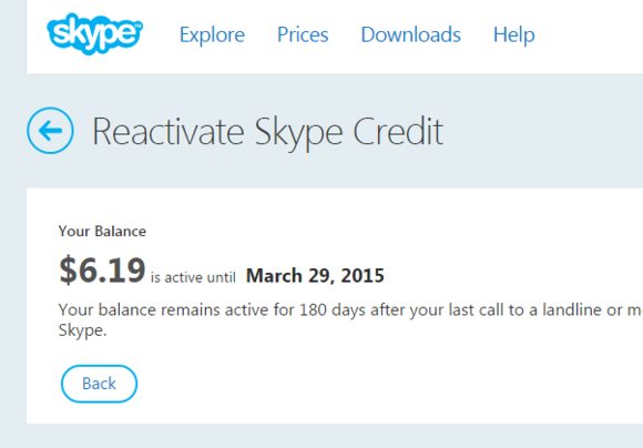 skype annoyance unused call credit 4