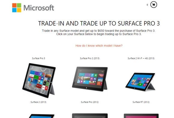 surface pro 3 tradein site