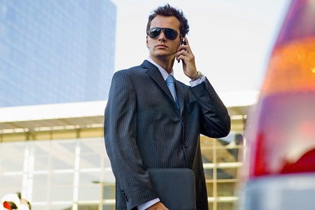 talent agent salesman slick hollywood sunglasses