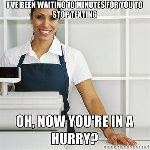 thelist cashier meme