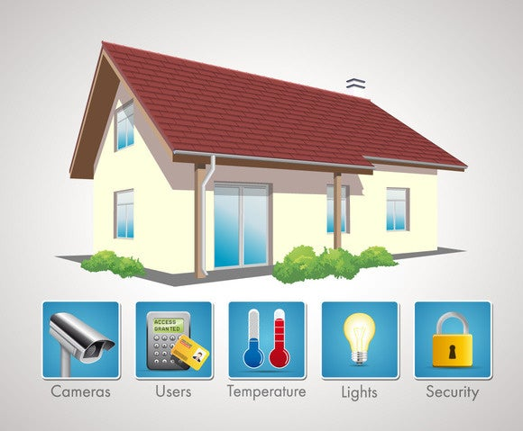 connected home illustration internet of things IoT