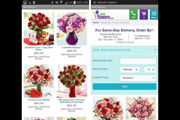 vday apps 1 800 flowers