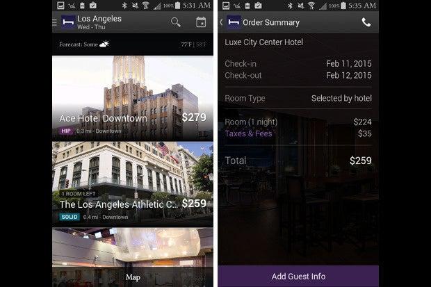 vday apps hotel tonight