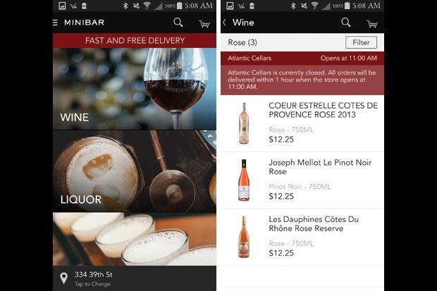 vday apps minibar