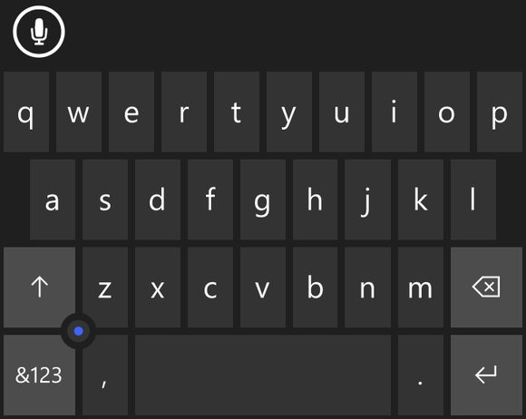 windows 10 for phones keyboard joystick