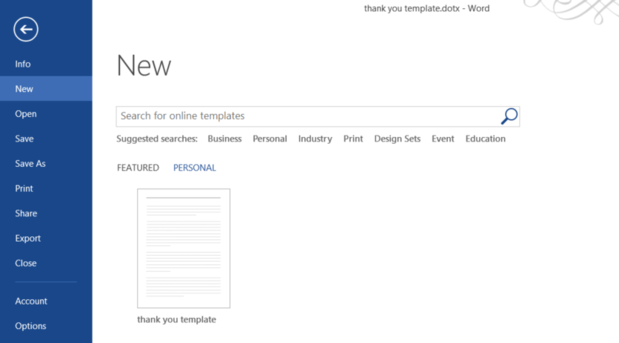 setting up templates in word