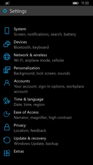 Microsoft Windows 10 for phones