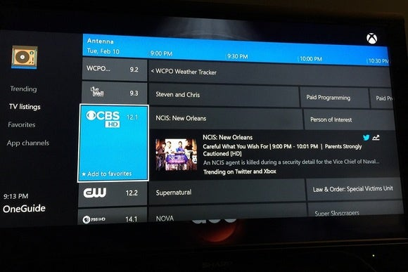 Xbox One channel guide