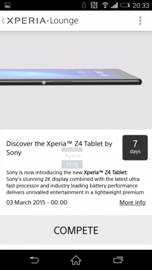 xperia lounge leak