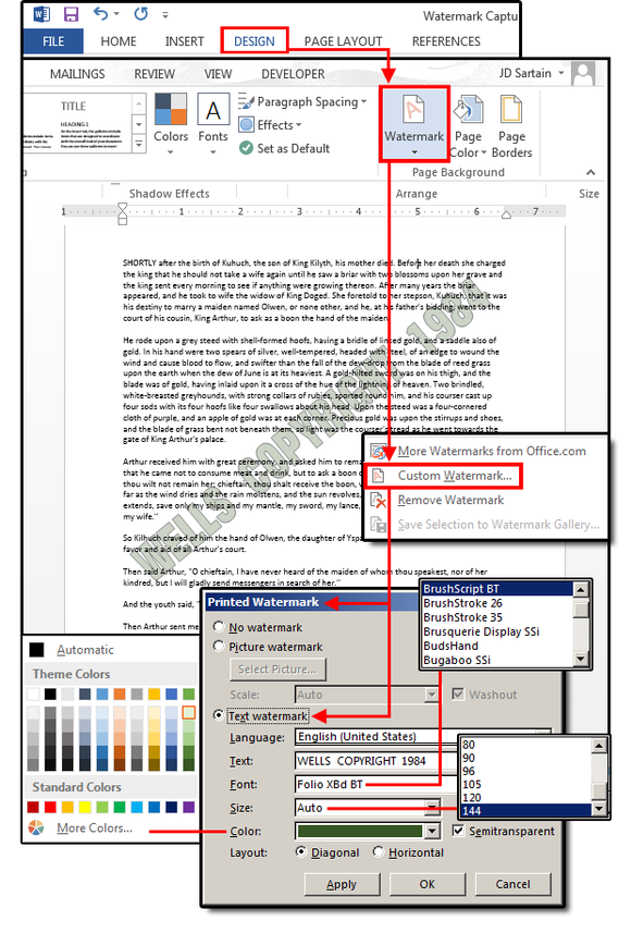 Microsoft Word watermarks: How to customize them for
