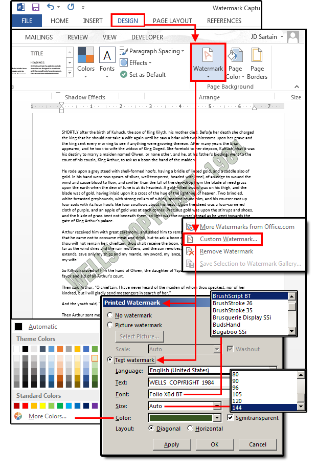 Microsoft Word Watermarks How To Customize Them For Business And