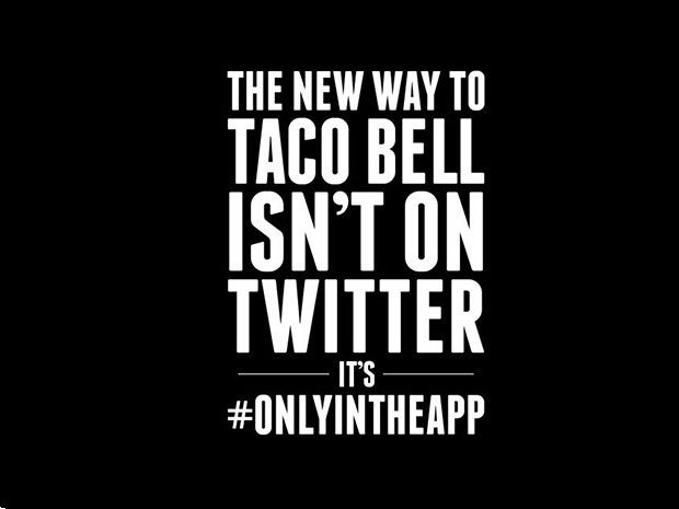 10 taco bell only in the app