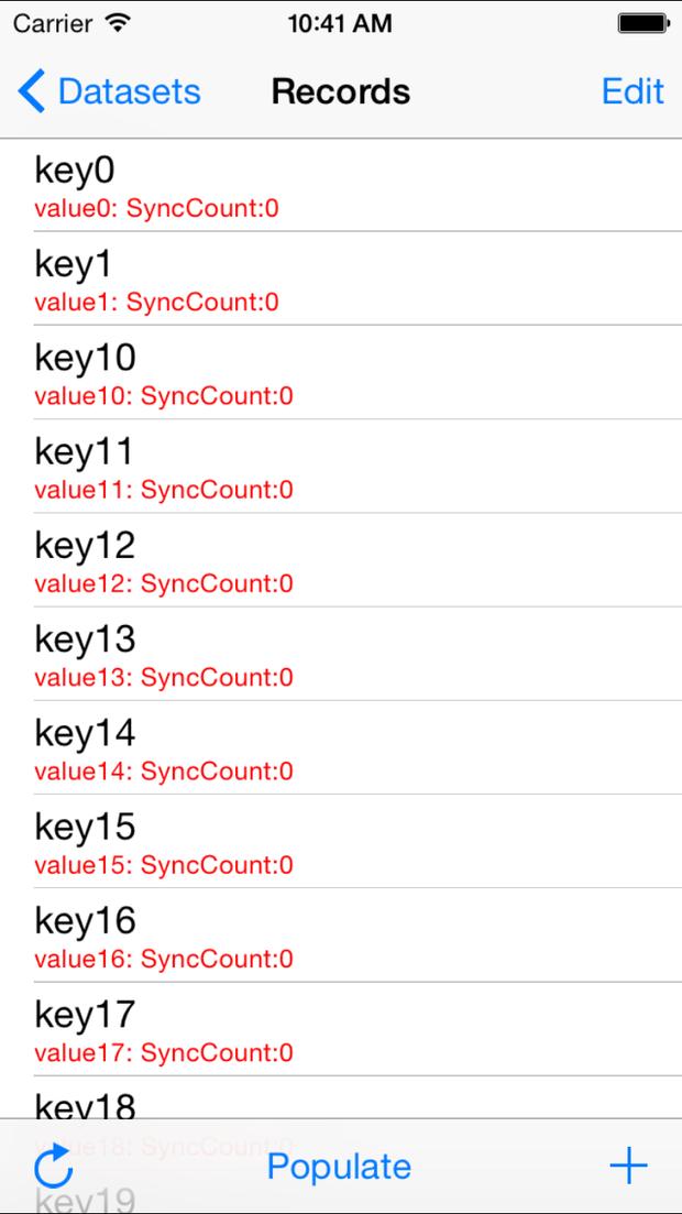 Amazon Cognito Sync demo for iOS