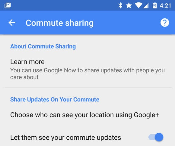 android sharecommute toggle