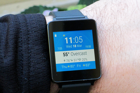 android wear weather watch