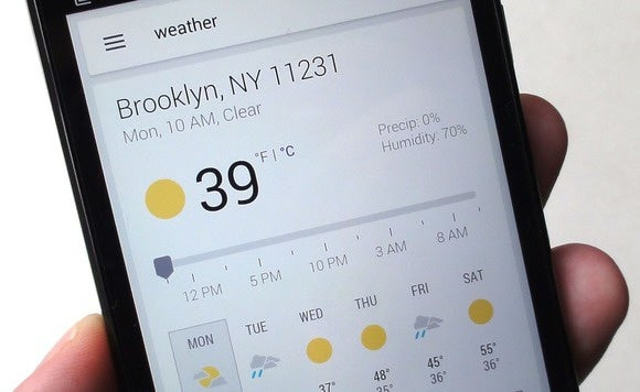 android google search weather 6