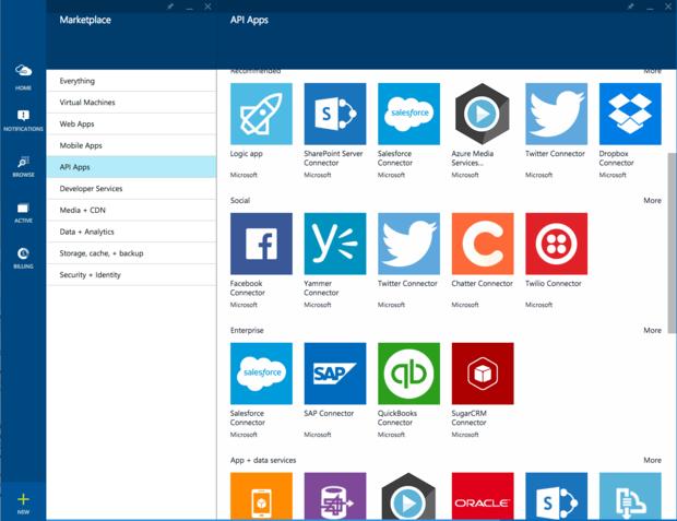 Azure API App marketplace